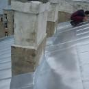 Skursteņu iestrāde jumta segumā