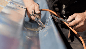 Tekņu un noteku uzstādīšana, remonts