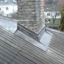 Skurstena iestrade jumta seguma